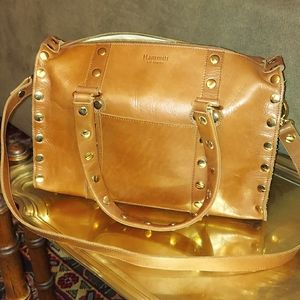 HAMMITT GOLD STUDDED LEATHER BAG PURSE WITH STRAP